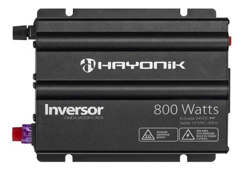 Inversor Hayonik 800w 24v/127v Modelo Novo Onda Modificada