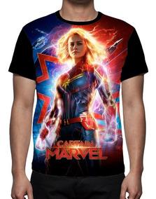 Camiseta Filme Capitã Marvel Mod 03 - Frente