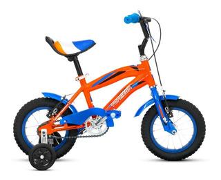 Bicicleta Top Mega Rodado 12 Junior Bmx Nene Rueditas Varon