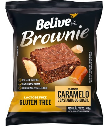 Imagem 1 de 1 de Brownie Caramelo Belive Display 10x40g