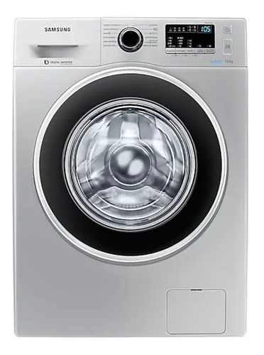 Lavarropas Automático Samsung Ww70j4463g Inverter  Plata 7kg 220v