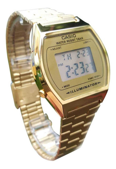 3294 Dorado Mercado Casio Pulsera México En Libre Reloj B640w De hQrsdtCx