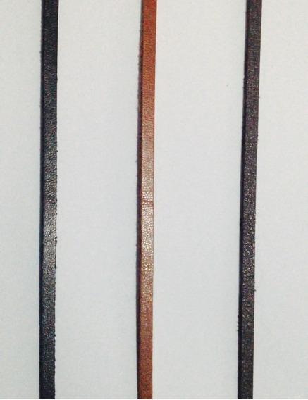Cordão Tira Couro Pulseira Colar 3mm .