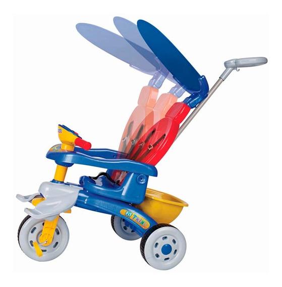 Triciclo Passeio Fit Trike Azul Com Som 3338 - Magic Toys