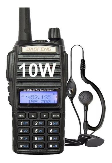 Handy Baofeng Uv82 10w Bibanda Radio Walkie Talkie Vhf Uhf Con Auricular Manos Libres