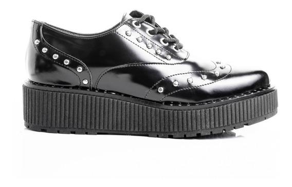 Zapatos Mujer Abotinados Cuero Botinetas Baja Plataforma