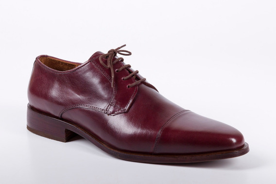 Zapatos Para Hombre Color Guinda - Negro - Modelo Roma