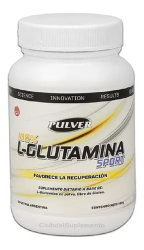 Glutamina Pura 150 Gramos Pulver Recuperacion Muscular Total