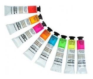Tinta Óleo Corfix Fluorescente 20ml Cj 8 Cores *frete+barato