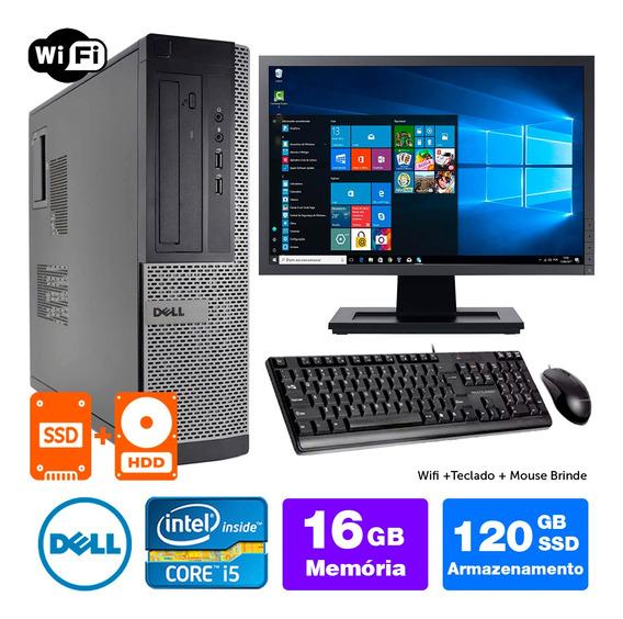 Pc Usado Dell Optiplex Int I5 2g 16gb Ssd120+1tb Mon17w