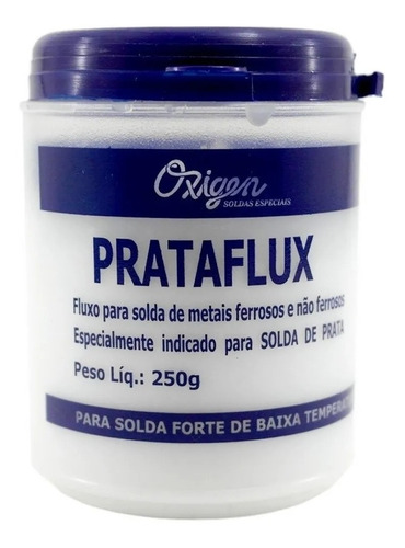 Fluxo De Solda Prata E Ouro Prataflux 250g Oxigen