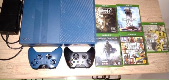Xbox One Edição Limitada Forza 6 + 2 Controles + 5 Jogos
