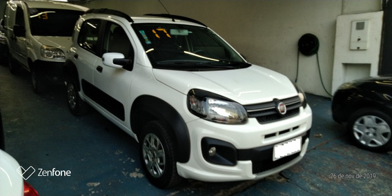Fiat - Uno 1.3 Way Branco - Dualogic - 2017 _ (super Novo)
