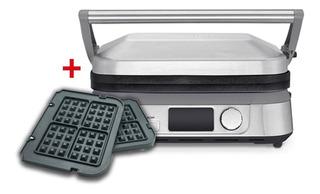 Parrilla Digital Gr-5bes + Placas Para Waffles Cuisinart