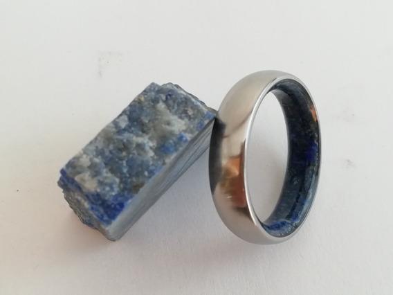 Anillo Matrimonio, Compromiso, Titanio, Lapis Lazuli, Unisex