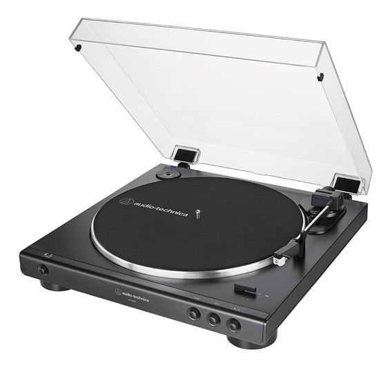 Toca Disco Audio Technica Lp60x Automático Bivolt Preto At-lp60x-bk