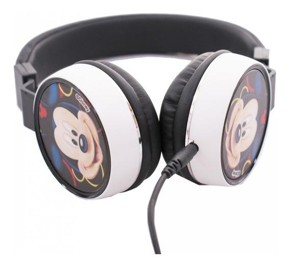 Fone De Ouvido Supra Auricular Cabo 1,20mt Do Mickey Disney