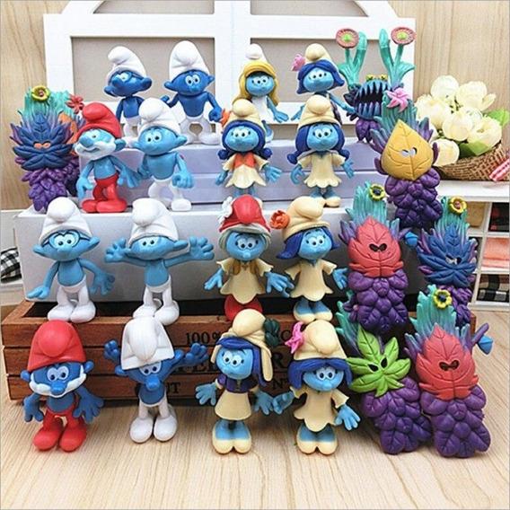 Os Smurfs E A Vila Perdida 24 Bonecos Smurfete Papai Smurfs