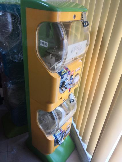 Maquina Juguetera Doble + 100 Capsula 2 Pulgadas 10 Pesos