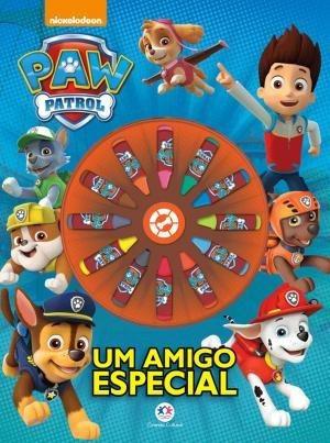 Patrulha Canina Livro Para Colorir 12 Giz De Cera Brinquedos