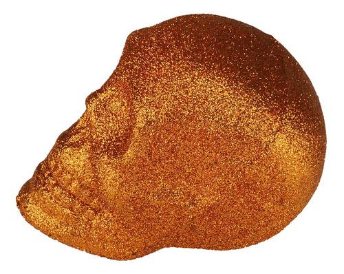 Caveira C/ Glitter Cobre Plástico 9cm Urban 44267