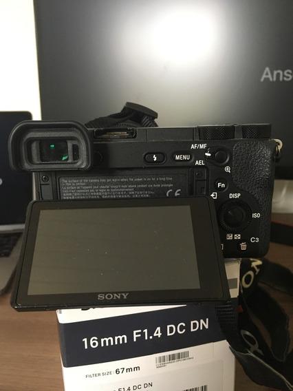 Câmera Sony A6500 + Lente Sigma 16mm 1.4 + 2 Baterias + 64gb