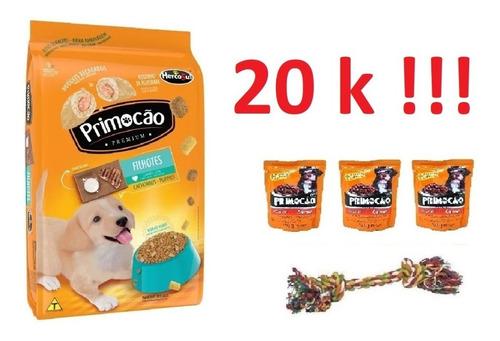 Imagen 1 de 1 de Primocao Cachorro 20k + 3 Sachets + Cuerda + Envio Gratis