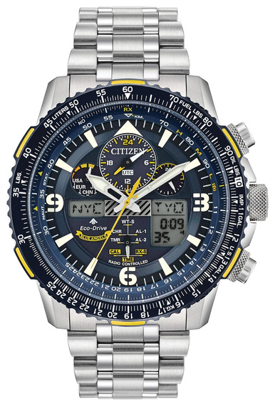 Relógio Citizen Novo Blue Angels Skyhawk Radio C Jy807852l