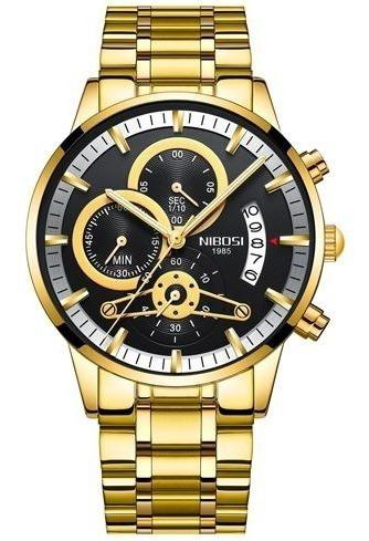 Relógio Masculino De Pulso Nibosi - Hn4385prd