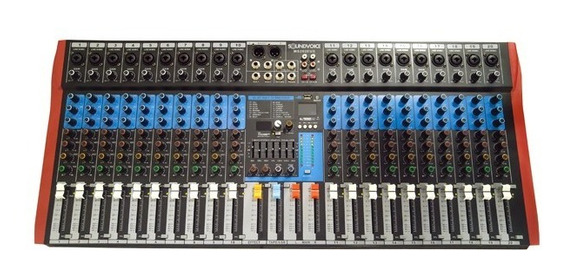 Mesa De Som 20 Canais Xlr Rec Usb Bt Soundvoice Ms202 Eux