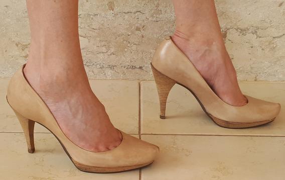 Sapato Scarpin Dumond Nude Couro