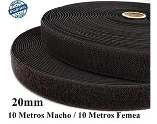 Rolo De Velcro Fita 20mm Preta 10m Laço Artesanato Promoção