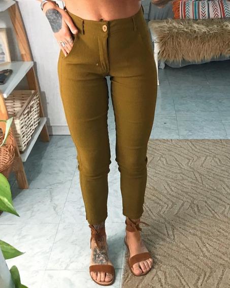 Pantalón Chupin De Mujer Dama Tiro Alto Art 6872