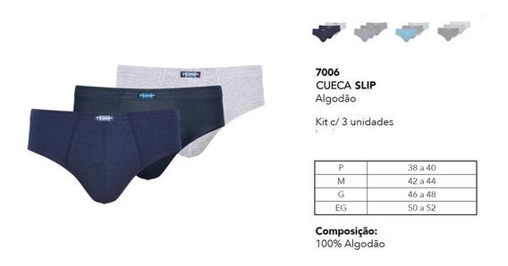 Kit 12 Cuecas Marca Torp Basic Slip Algodão Elástico