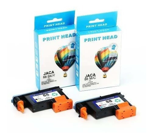 Kit Cabeça Impressão Hp 88 C9382a C9381a - L7590 K8600 K5400