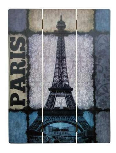 Cuadros Decorativos Madera Divididos - Torre Eiffel 30x40cm