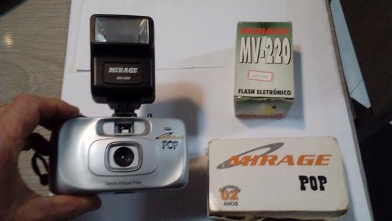 Camera Mirage Pop 35mm + Flash Eletronico Mv-220