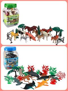 Kit De Animales Marinos Y Granja X 20 Piezas C/u Infantil