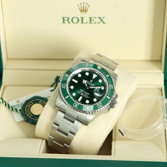 Relógio R.o.l.e.x Submariner Verde Premium
