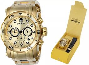 Relógio Invicta 23652 Banhado Ouro Original 2 Pulseiras