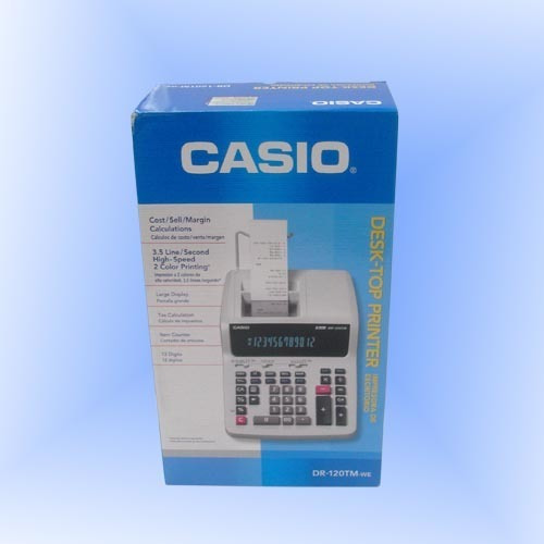 Impresora De Escritorio Casio Dr-120tm-we