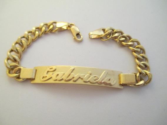 Robusta Pulseira Gabriela - Ouro 18k - 5.80 Gr