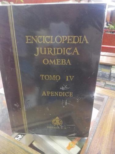 Imagen 1 de 2 de Enciclopedia Jurídica Omeba Tomo Iv Apendice