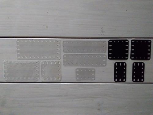 Meccano Inglés Lote Placas De Plástico