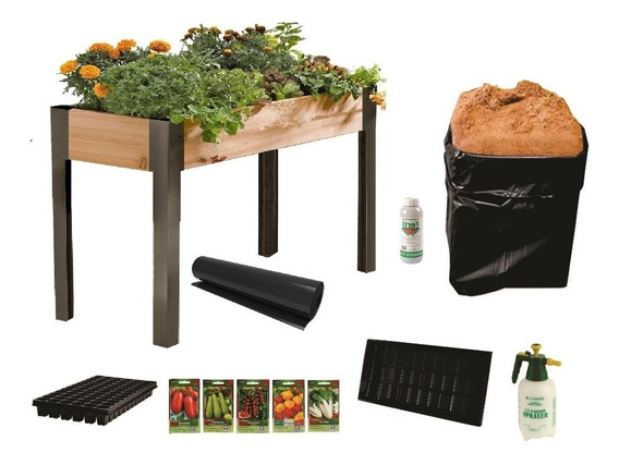 Mesa De Cultivo Kit Completo Para Huerto De 90x120x20 Cms