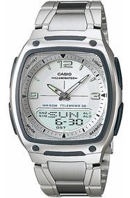 Relógio Casio Aw-81 D Wr-50m 30 Fones Hora Mundial Aw-80 Br