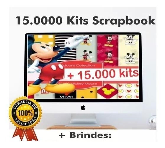 15.0000 Kits Scrapbook Digital Imagens Backgrounds Vetores