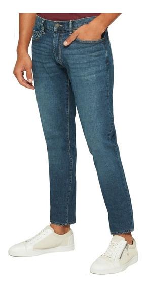 Jeans Hombre Pantalón Mezclilla Corte Skinny Azul 645167 Gap