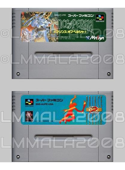 Original Prince Of Persia 1 E 2 Inglês Super Nintendo Snes