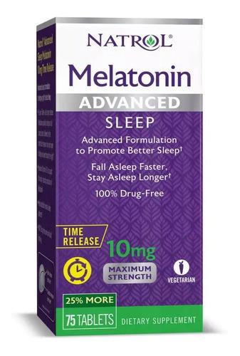 Imagen 1 de 5 de Melatonina Advanced 10 Mg | Liberación Prolongada | 75 Tabs